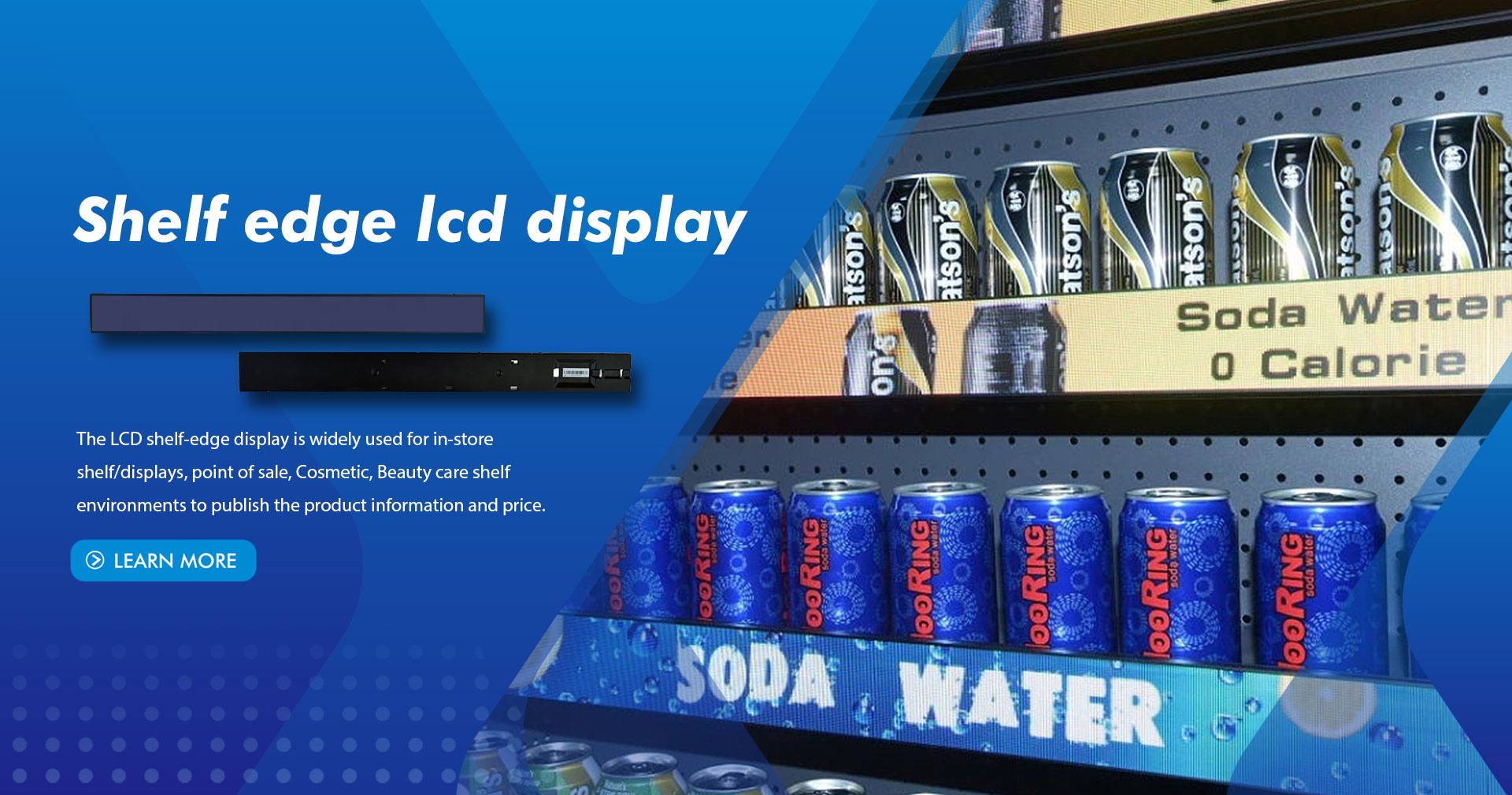 Shelf edge lcd display