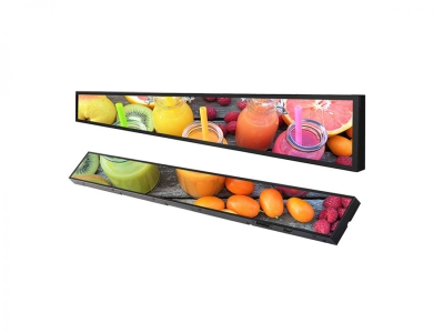 Smart Video Lcd Display for Supermarket Shelf